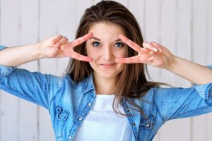 Eye care, Happy girl with contact lens in Kissimmee & Lakeland, FL